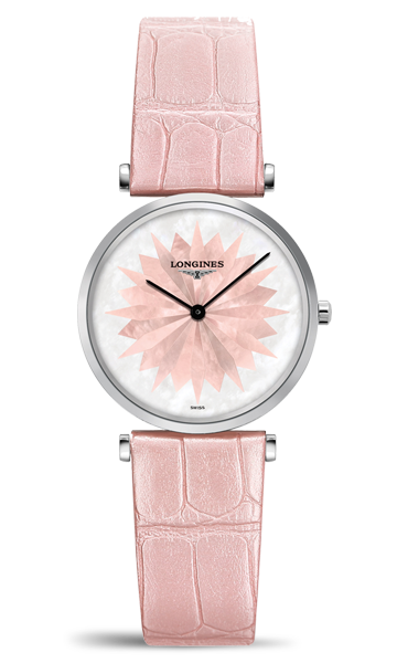 Copy Longines Watches With Pink Star Pattern