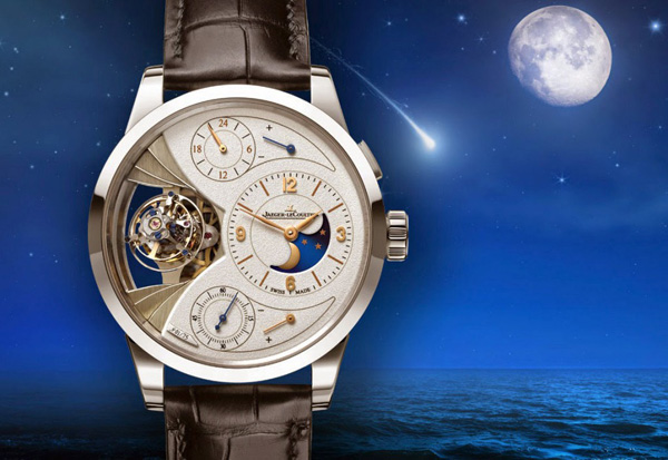 YELLOW GOLD POINTER COPY Jaeger-LeCoultre Duométre Sphérotourbillon Moon