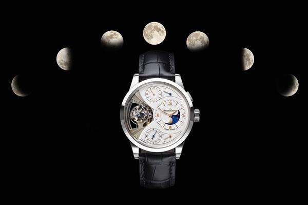 white gold case copy Jaeger-LeCoultre Duométre Sphérotourbillon Moon