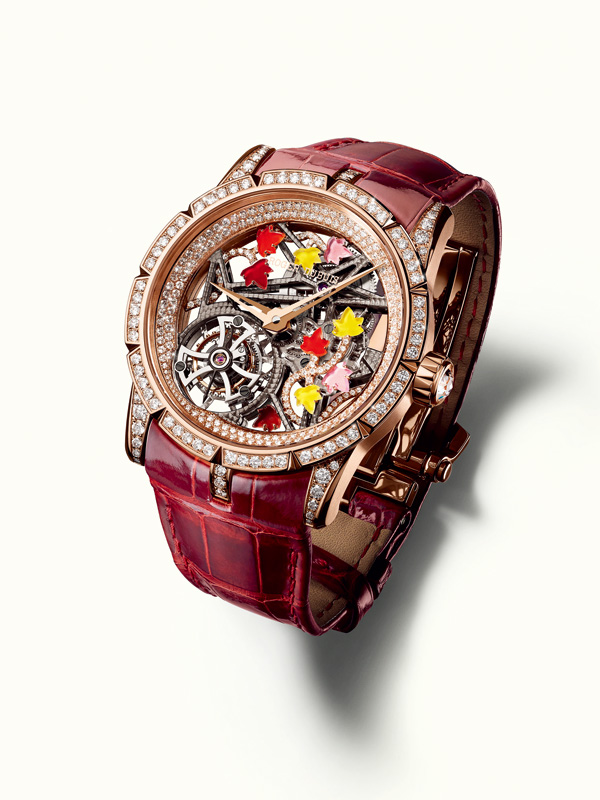 rose gold case copy Roger Dubuis Excalibur Brocéliande