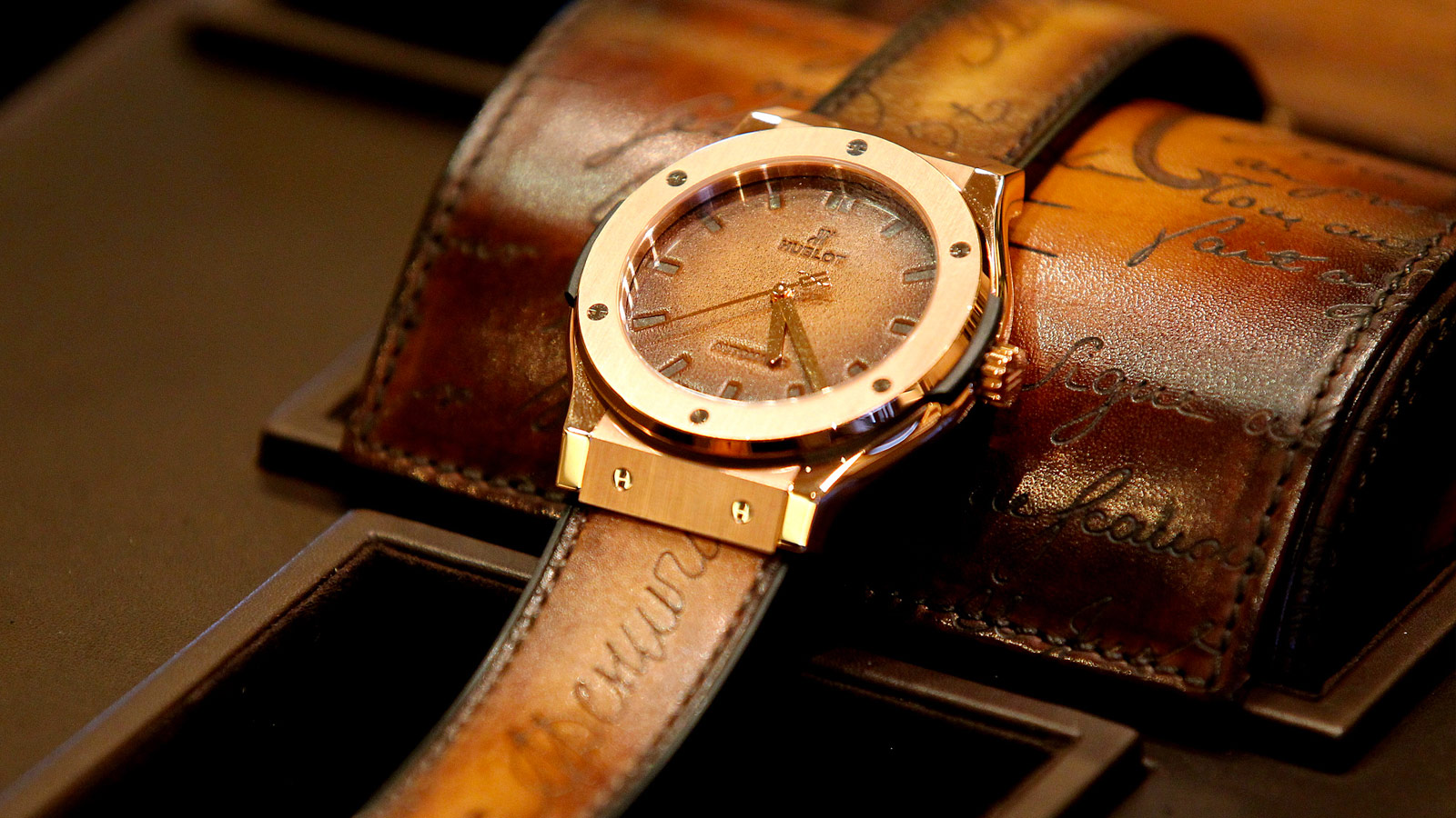 Brown Straps Copy Hublot Classic Fusion Watches