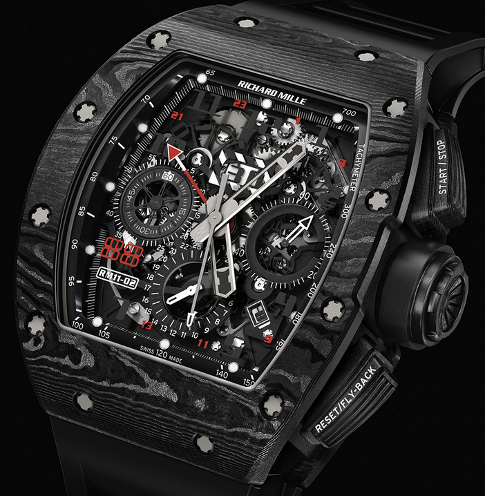 NTPT Carbon Cases Richard Mille RM 11-02 Automatic Flyback Chronograph Limited Edition Copy Watches