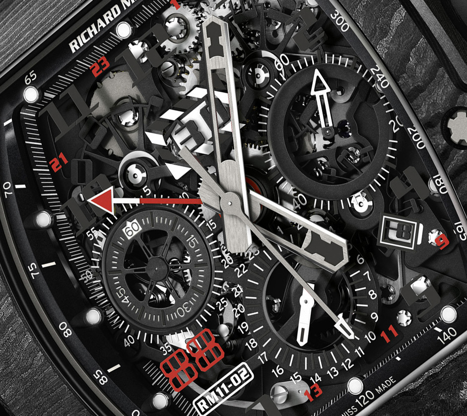 NTPT Carbon Cases Richard Mille RM 11-02 Automatic Flyback Chronograph Limited Edition Fake Watches