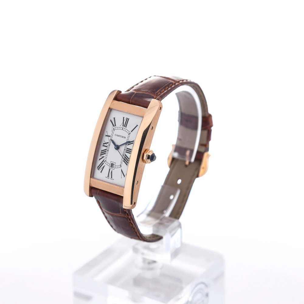 18K Pink Gold cases Tank Cartier Américaine Fake Watches