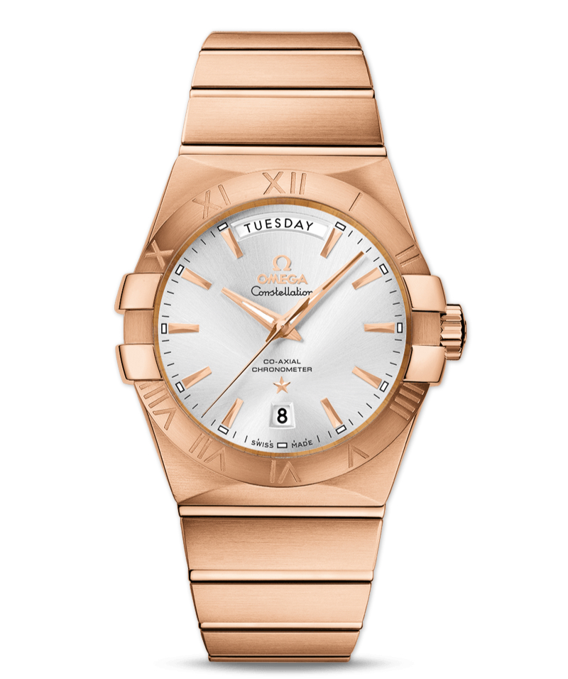 Red gold omega constellation replica watch for mens cheap replica watches for men for Omega replica watch