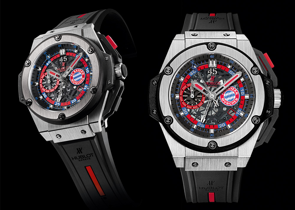 Hublot King Power Bayern Munich Chronograph Titanium Replica Watch