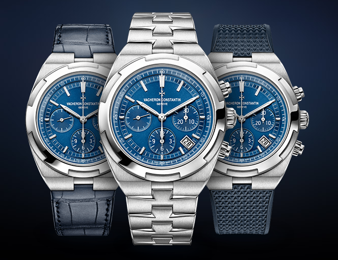 Vacheron Constantin Overseas Chronograph Blue Dial Replica Watch
