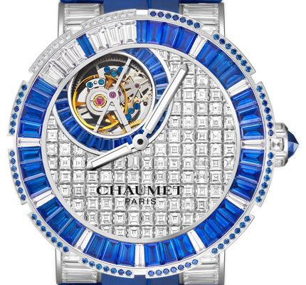 Diamonds and Sapphires Chaumet Class One Tourbillon Replica Watch