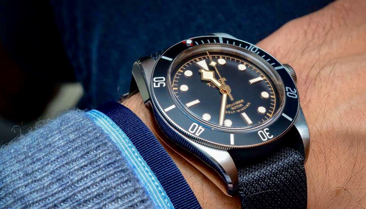 Steel Black Dial Tudor Heritage Black Bay Black Replica Watch