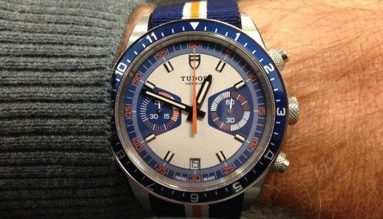 tudor heritage chrono blue replica