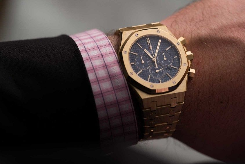 audemars piguet royal oak chronograph yellow gold