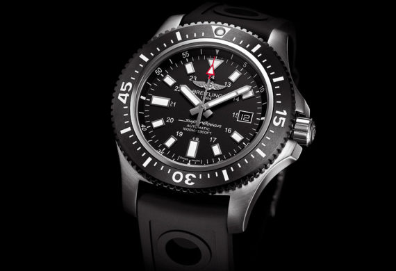 Breitling Supercoeanb 44 Special Black Dial - front