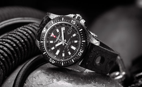 Breitling Superocean 44 Special Black Dial - reclining