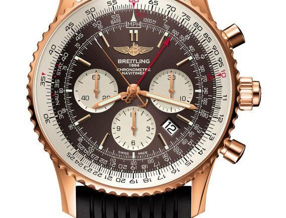 Breitling Navitimer Rattrapante -Gold Case - Front