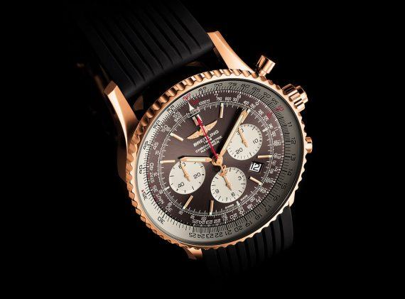 Breitling Navitimer Rattrapante -Gold Case - angle