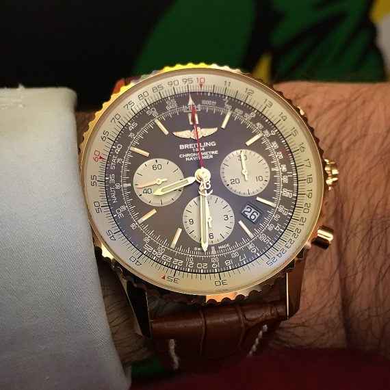 Breitling Navitimer Rattrapante - strap - wrist
