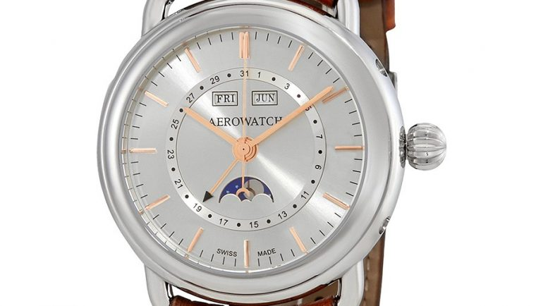 Aerowatch 1942 Automatic Moonphase Swiss Made Men's Watch A 75970 AA02