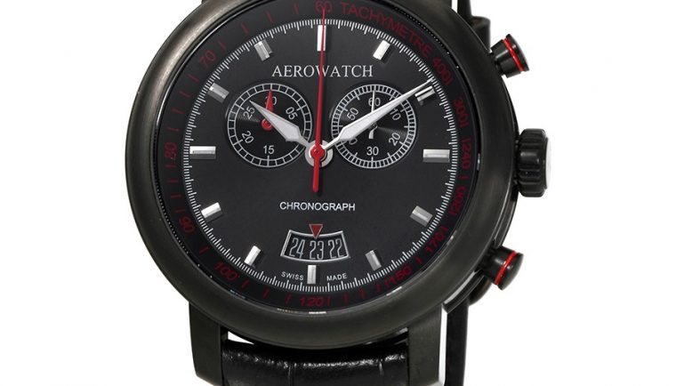 Aerowatch Renaissance Chronograph Black Dial Swiss Made Men's Watch A 87936 NO01