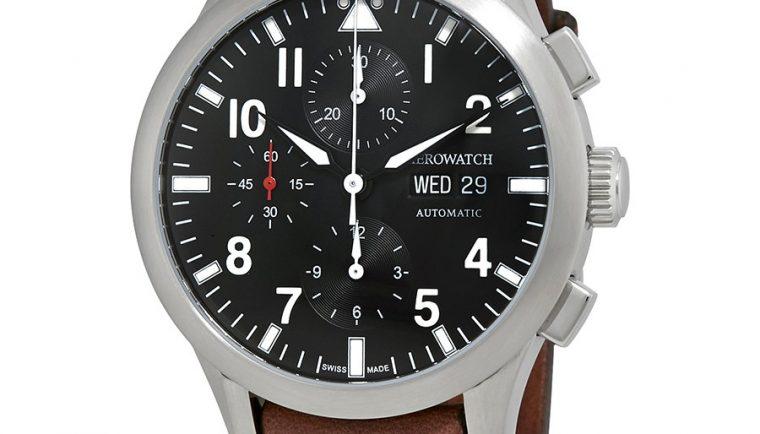 Aerowatch The Grand Classics Pilot Automatic Chronograph Swiss Made Men's Watch A 61968 AA03