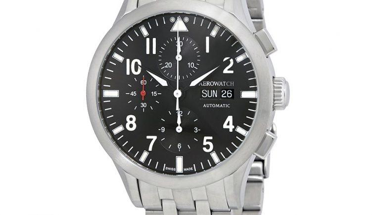 Aerowatch The Grand Classics Pilot Automatic Swiss Made Men's Watch A 61968 AA03 M
