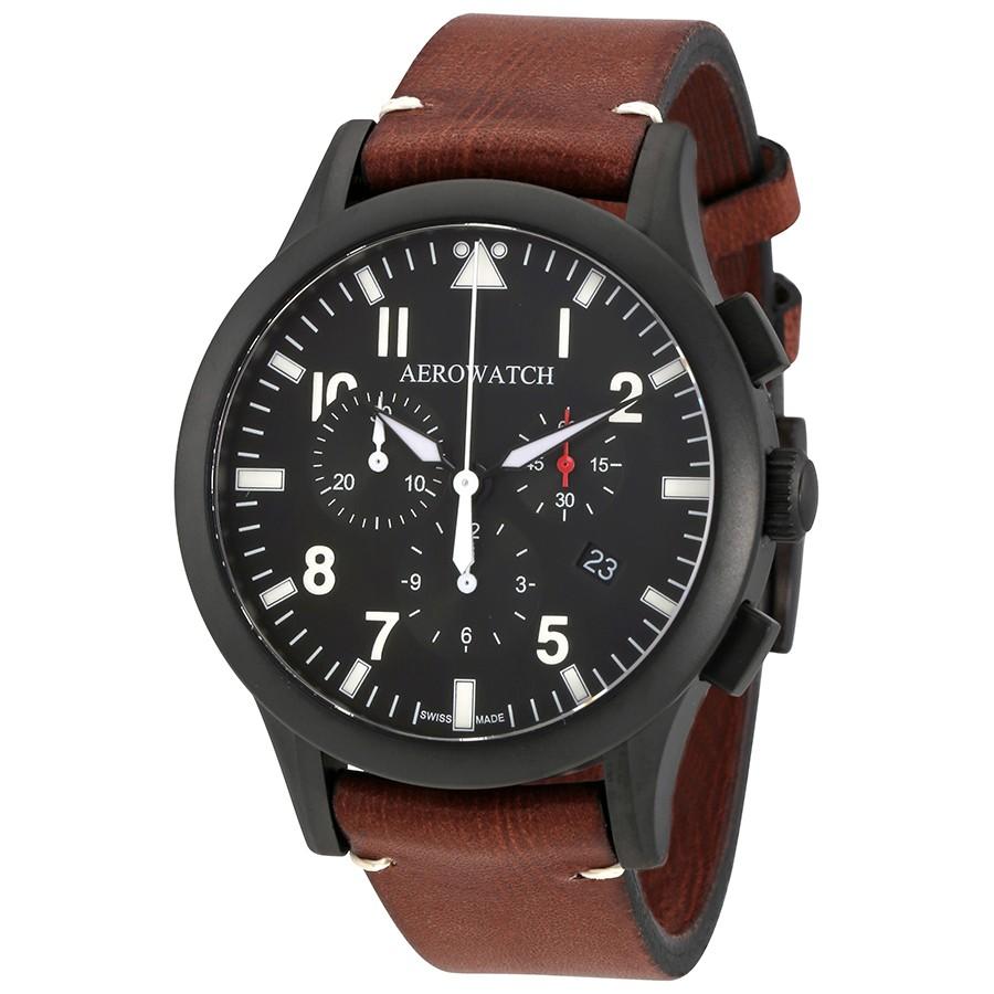 Aerowatch The Grand Classics Pilot Chronograph Swiss Made Men's Watch A 83966 NO03