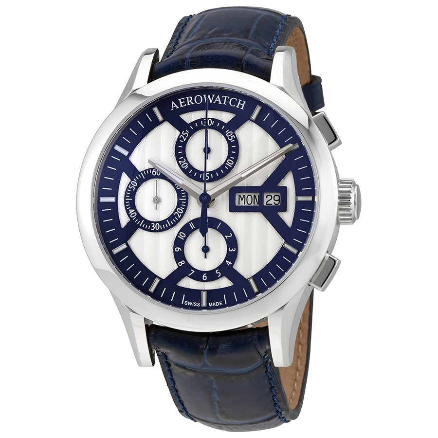 Aerowatch The Great Classics Chronograph Silver Dial Swiss Made Men's Watch A 61968 AA04