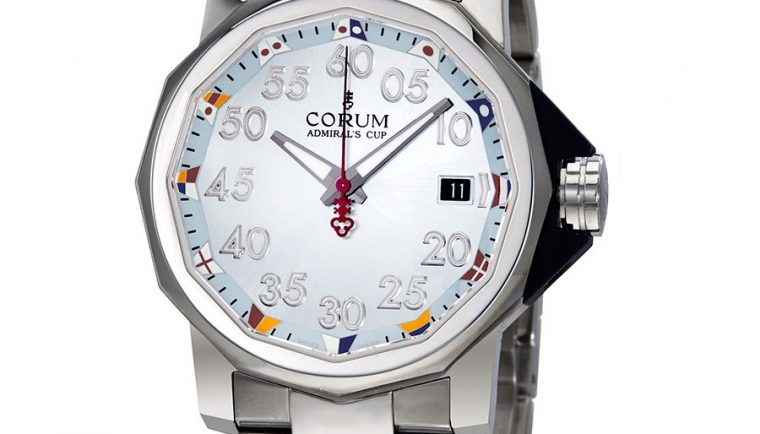 Corum Admiral's Cup Light Blue Dial Stainless Steel Automatic Men's Watch