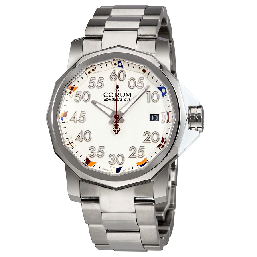 Corum Admiral's Cup Automatic White Dial Men's WatchA082/03374