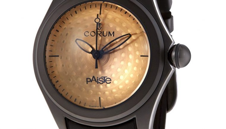 Corum Bubble Paiste Bronze Drum Cymbal Dial Men's Limited Edition Watch 110.310.98/0061 PA01 R