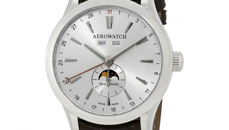 Aerowatch Les Grandes Classiques Moonphase Hand Wound Swiss Made Men's Watch A 93955 AA01